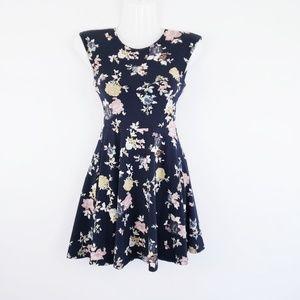 Aritzia Talula Floral Fit & Flare Dress
